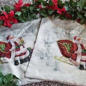 Other - Santa Pillow Covers